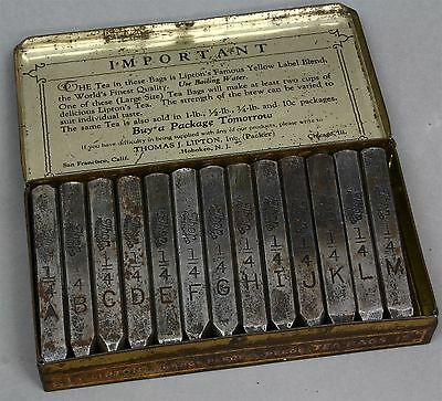 """PGH PITTSBURGH STAMP CO THOR Steel 1/4"""" Letters Alphabet Die Stamp Punch Set"""