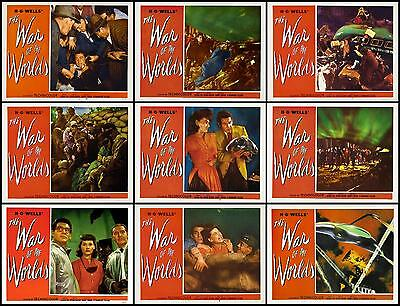 THE WAR OF THE WORLDS Full Set Of 9 Individual 11x14 LC Prints 1953 SCI-FI SALE