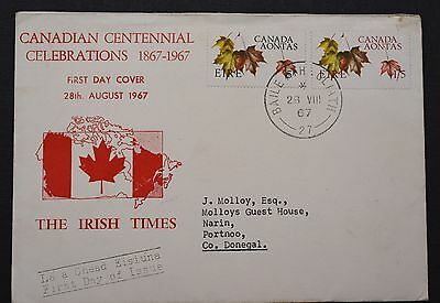 First Day Cover Stamps 1967 ~ Canadian Centennial Celebrations ~ The Irish Times