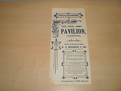 Nov 1909 Liverpool New Pavilion Theatre Fold-Out Programme With Fred Karno's Co.