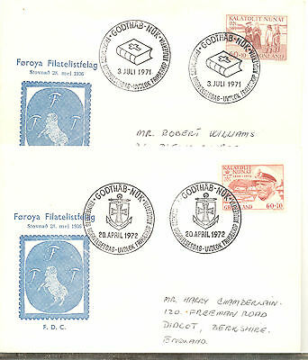 Greenland four attractive commemorative covers to the same Didcot address