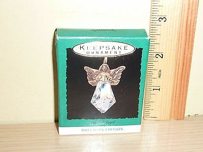 1993 Hallmark Miniature Ornament ~ Crystal Angel ... rough box
