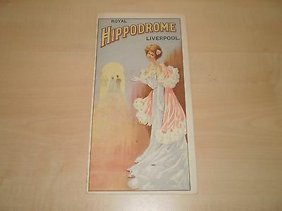 1910 Liverpool Royal Hippodrome Theatre Fold-Out Programme With Local Adverts