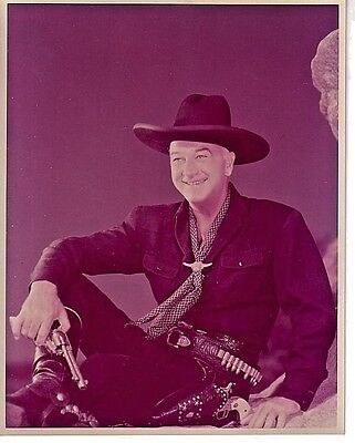 1940's 8X10 COLOR MOVIE STAR PROMO PHOTO OF WILLIAM BOYD-HOP-A-LONG CASSIDY