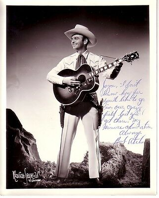 1940's 8X10 AUTOGRAPHED PROMO PHOTO-COUNTRY MUSIC STAR-BOB ATCHER