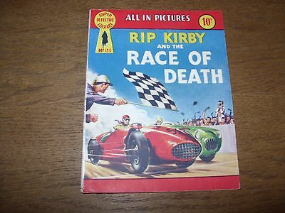 Vintage SUPER DETECTIVE LIBRARY #130 (1958 10d) RIP KIRBY and the RACE OF DEATH