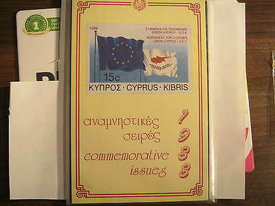 Cyprus Commemorative Presentation Pack for 1988
