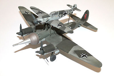 Built/Painted 1/72: German Ju-88 / Bf-109F Mistal WWII