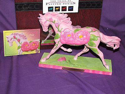RETIRED! 2015 Trail of Painted Ponies PETALS Rose 2014 Hot Pink Horse NIB w Card