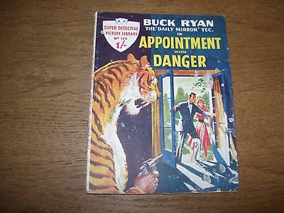 Vintage SUPER DETECTIVE PICTURE LIBRARY #156 (1959) APPOINTMENT WITH DANGER