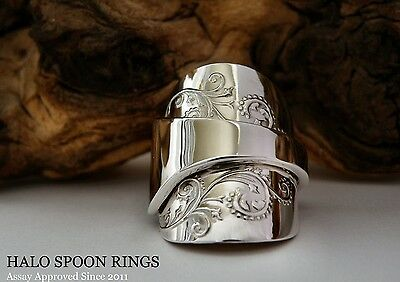 Stunning And Chunky Solid Silver Spoon Ring 1975 ** A Perfect Birthday Gift **