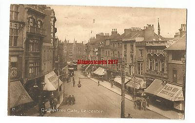 Leicester Gallowtree Gate Vintage Postcard 20.6