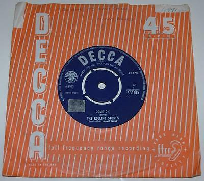 The Rolling Stones, Come On*i Want To Be Loved, Rare, 1963 Decca 11675 T1-1C Ex-