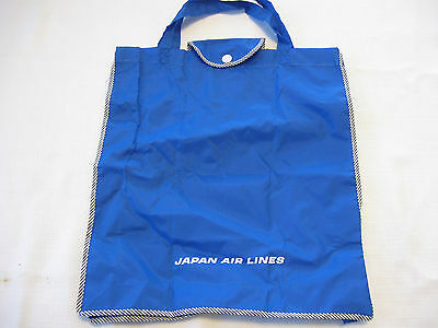 Vintage Japan Airlines Carry On Tote Bag Blue New Old Stock NOS Air Lines