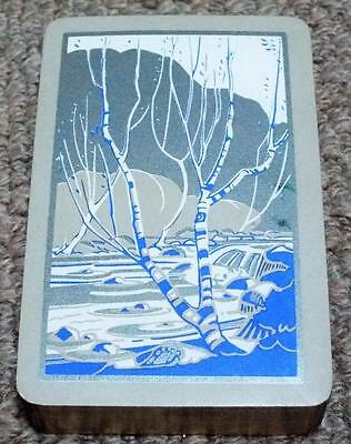 River Scene - Vintage 1930's Pack Gilt Edged Playing Cards - Blue
