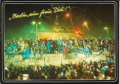 Berlin Wall -Celebrations at its Fall - Unposted Postcard