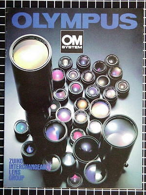 OLYMPUS OM ZUIKO LENS GROUP BOOKLET 215mm x 280mm (8.5''x 11'') 14 pages 08/1979