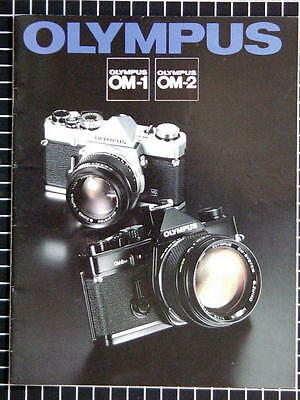 OLYMPUS OM-1N OM-2N BOOKLET 215mm x 280mm (8.5''x 11'') 22 pages 05/1979