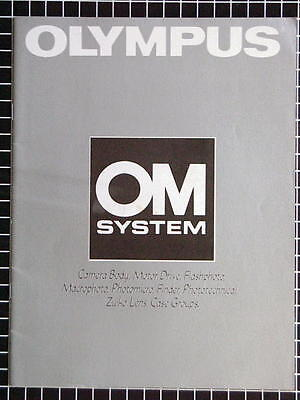 OLYMPUS OM SYSTEM BOOKLET 215mm x 280mm (8.5''x 11'') 34 pages 03/1988