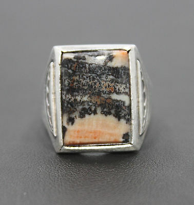 Southwestern Style Agate Ring Size 9.25