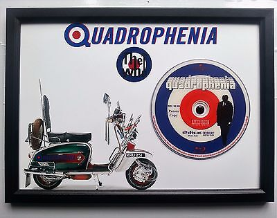 Mods/the Who Unique Quadrophenia Memorabilia Presentation Disc Frame