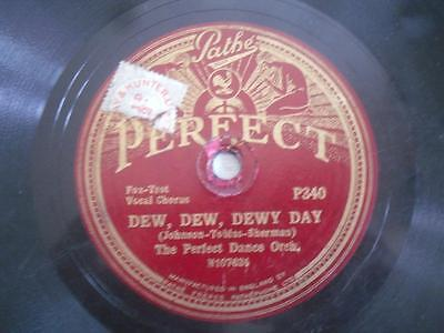 The Perfect Dance Orchestra. Pathe Perfect maroon label 78 rpm record