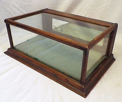 Old Antique Small Rectangular Table Top DISPLAY CASE SHOWCASE Mirrored Door