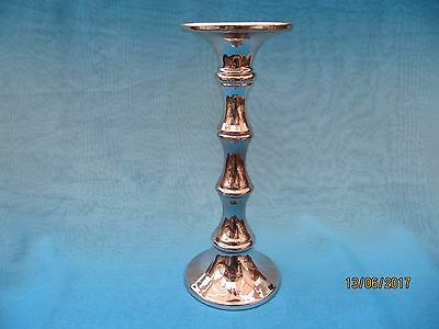 Large Single Chromium Glass Candlestick