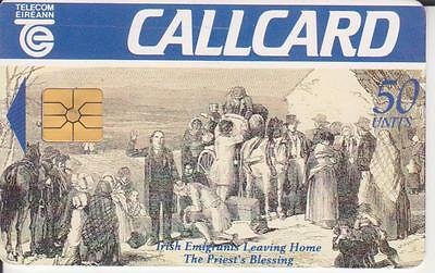 Telecom Eireann Irish Call Card,the Priests Blessing,50 Unit Used