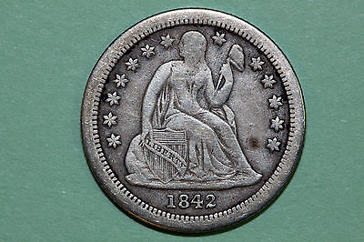 One Better Date 1842-O Seated Liberty Dime that Grades Fine (Stock #: SLD637)