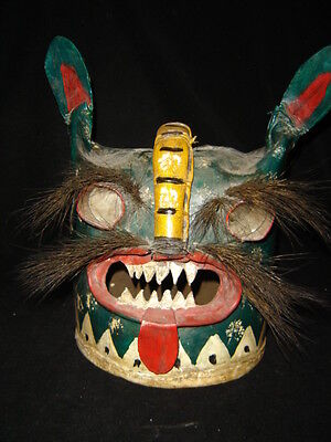 212 OLD DANCE REAL SUPERB TIGER MASK made out of leather true dance