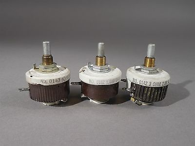 Lot of 3 Ohmite Potentiometer 0162, 0142, 0143 - New