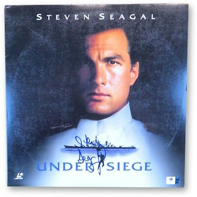 Steven Seagal Signed Autographed Laserdisc Cover Under Siege GV865961