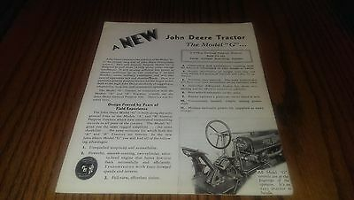 John Deere New Model G Brochure Book Reprint 1990 Farm Advertising