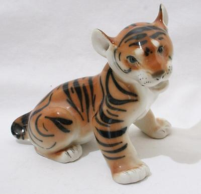 Beautiful Vintage Lomonosov Russian USSR Animal Figure - Tiger Cub