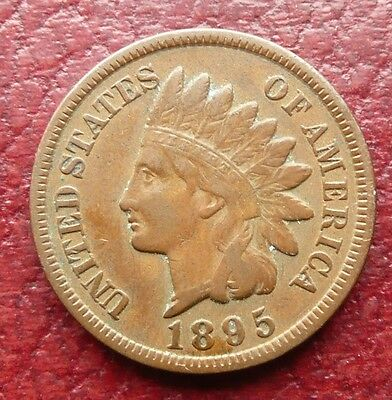 Usa 1895 Indian Head Cent Coin - High Grade - See!