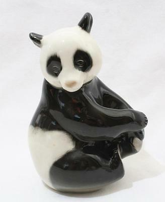 Beautiful Vintage Lomonosov Russian USSR Animal Figure - Panda Bear
