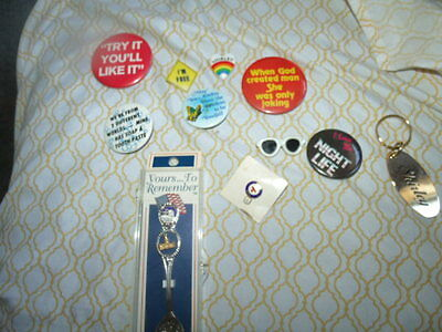 VINTAGE PIN BACK BUTTONS Lot And Stuff