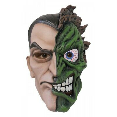 2 Face Mask Costume Accessory Adult Two-Face Harvey Dent Halloween Fancy Dress