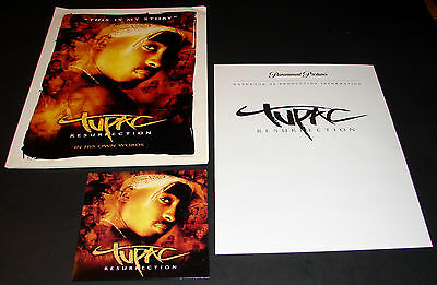 2003 TUPAC RESURRECTION Movie PRESS KIT Folder, CD, Production Notes