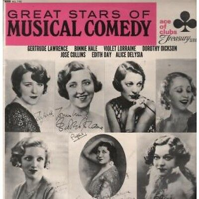 GREAT STARS OF MUSICAL COMEDY Various LP VINYL UK Ace Of Clubs 1964 13 Track