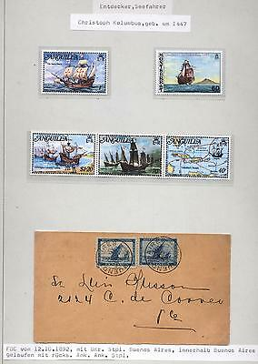 (940524) Ship, Letter, Classical, Argentina - FDC -