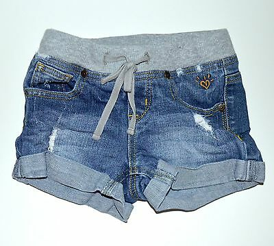 Justice 7 Denim Shorts Rib Waist Destructed Stretch Girls kfp1