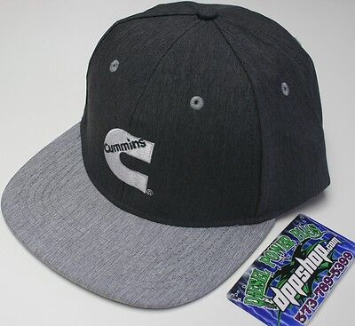 Cummins trucker winter solid cummings hat ball cap flatbill snap back flat  bill 24800592a136