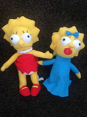 Official Simpson Maggie & Marge  Soft Push Toy Character - Approx 10 Inches
