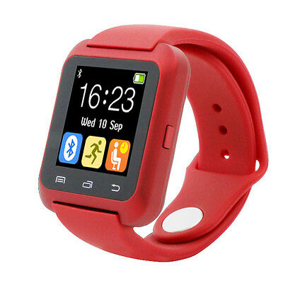 U80 Multifunction Smart Wrist Watch Bluetooth Phone Mate For Android Samsung Red