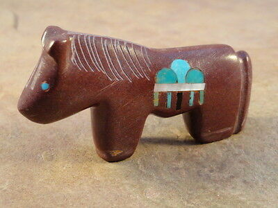 Hand Carved Zuni Pipestone Pony By Emery Boone