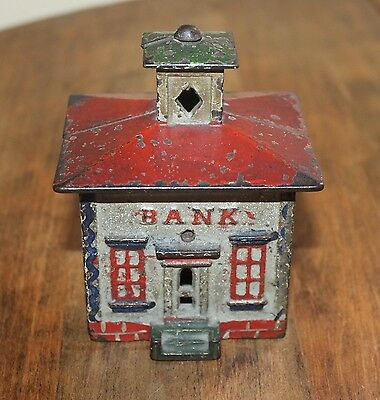 Cast Iron Cupola Still Bank J & E Stevens.Original paint,4 inches