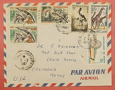 1967 Niger Niamey Cancel Airmail Cover To Usa