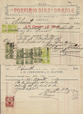 Mexico Revenue collection #70 - two documents 1908 1910